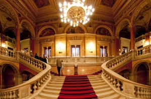The Grand Staircase of the Budapest Opera House