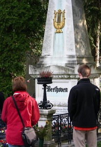 Beethoven's grave in Vienna's Central Cemetery
