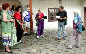 On-site teaching outside Beethoven's Heiligenstadt Testament Museum