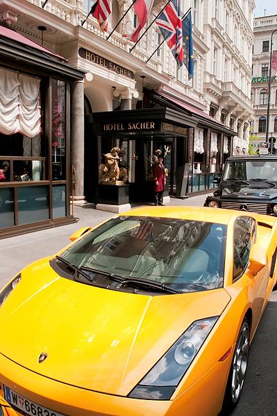 Lamborghini at Vienna's Hotel Sacher