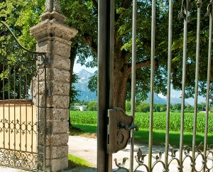 Gate of Frohnburg Palace from Sound of Music