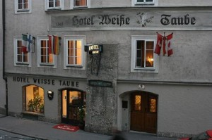 Salzburg's Hotel Weisse Taube (The White Dove), one of In Mozart's Footsteps favorite places to stay