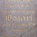 Rauhensteingasse Mozart plaque