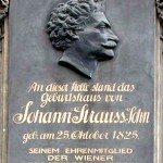 Plaque for Johann Strauss's Birthplace