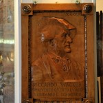 Plaque for Richard Wagner at Lavena Cafe in Venice