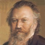 portrait of Johannes Brahms