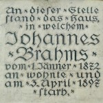 Johannes Brahms historical plaque