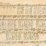 handwritten copy of Silent Night