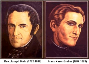 Portraits of Josef Mohr and Franz Gruber