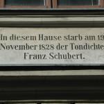 Schubert Apartment Museum Plaque