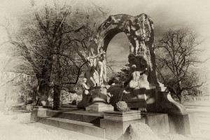 Strauss, Blue Danube, statue, Vienna, waltz