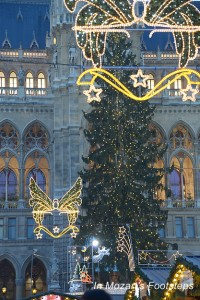 The Christmas Market at Vienna's Rathaus (City Hall).