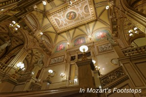 Main staircase and ceiling of the Vienna State Opera House