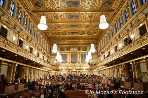 The Great Hall of the Musikverein in Vienna.