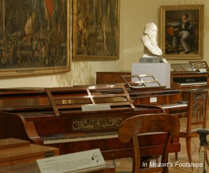 Pianos owned by Brahms and others in the Collection of Historic Musical Instruments.