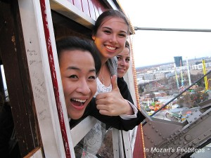 Students on Vienna's Riesenrad (Ferris Wheel)