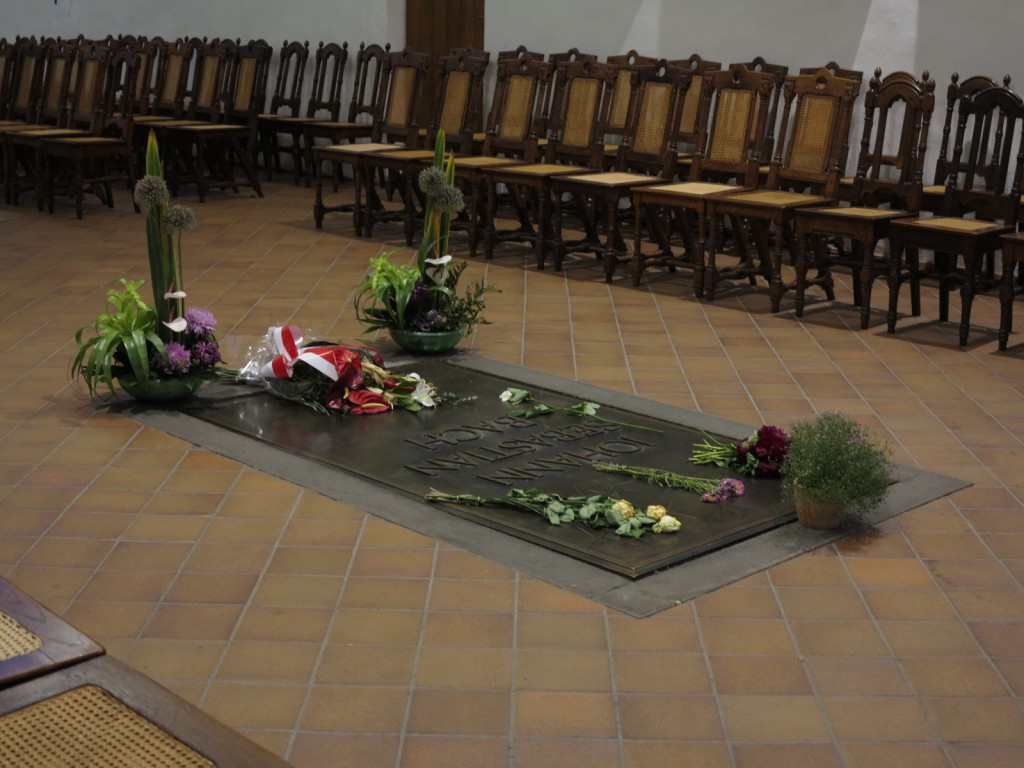 Bach's grave in the Thomaskirche (St. Thomas Church) in Leipzig