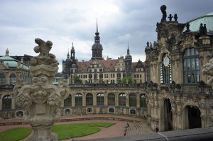 Zwinger, a large ceremonial and historical building in Dresden
