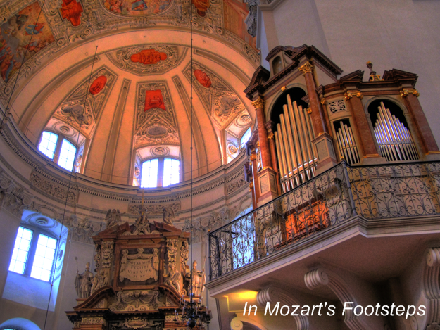 Salzburg Cathedral. We'll attend mass here that includes an excellent choral performance.