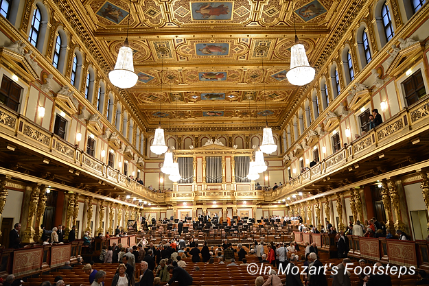 Vienna's Musikverein, one of the most historic concert halls in the world. We'll attend a concert there.