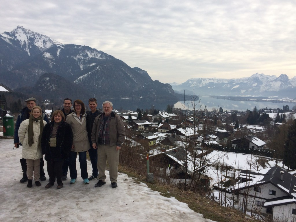 Happy travelers with In Mozart's Footsteps near Salzburg during our March 2018 trip.