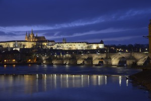 Prague's Charles Bridge and Castle.
